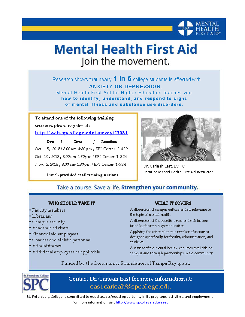 Mental Health First Aid Workshop Cetl